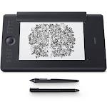 "Wacom Intuos Pro Medium Paper Edition - Wireless Graphics Tablet - 8.8"" x 5.8"" - Black"