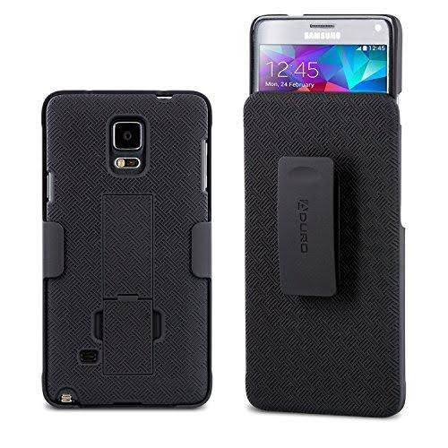 Aduro Combo Shell & Holster Case for Samsung Galaxy Note 4 - Black