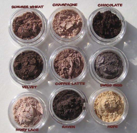 Mineral Vegan Eye Shadows Set of Nine Shades Wear To Work by kmms