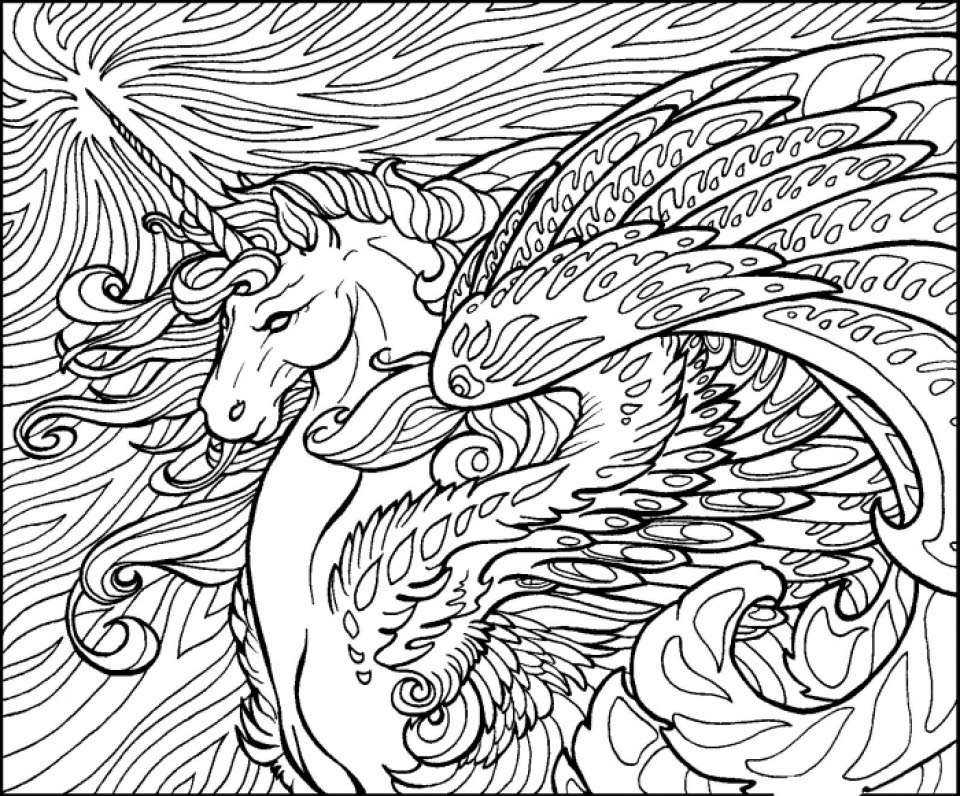 20+ Free Printable Unicorn Coloring Pages for Adults ...