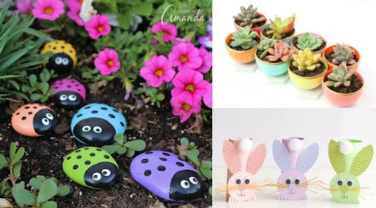 Spring Crafts for Kids ~Family Food Garden
