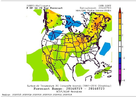 Wisconsin Nearly a Bullseye the Third Week of July with +2mT Anomaly.