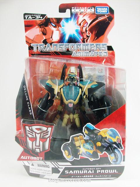 Transformers Samurai Prowl Animated Deluxe Takara - caja