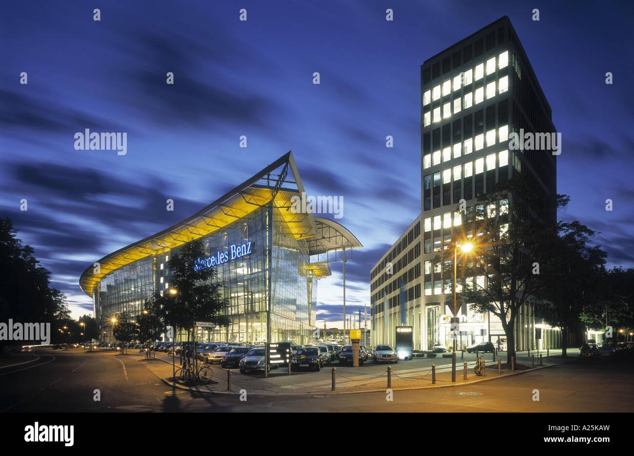 Mercedes Benz dealership near Salzufer, Germany, Berlin ...