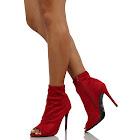 Anne Michelle Women's Peep Toe Stretch High Heel Booties