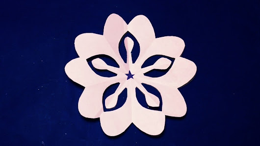 paper cutting decoration diyhow to make easy paper cutting design step by step easy crafts