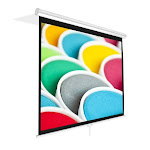SonicBoom SO4013 Universal 72-inch Roll-Down Pull-Down Manual Projection Screen - 42.5 in. x 56.6 in. Matte White