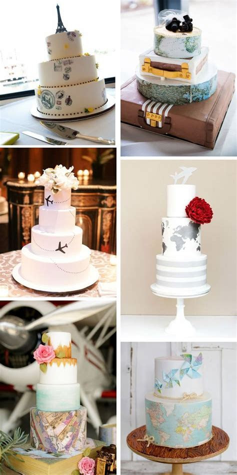 Cakes for the traveling couple   Around the World Cakes