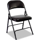 Alera CHR014 Steel Folding Chair With Padded Back and Seat - Carton of 4