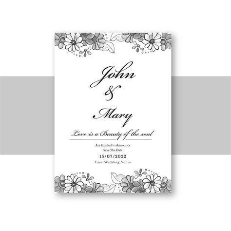 Beautiful wedding invitation card template with decorative