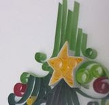 """Jesus is Born"" Tree Details Quilling 2"