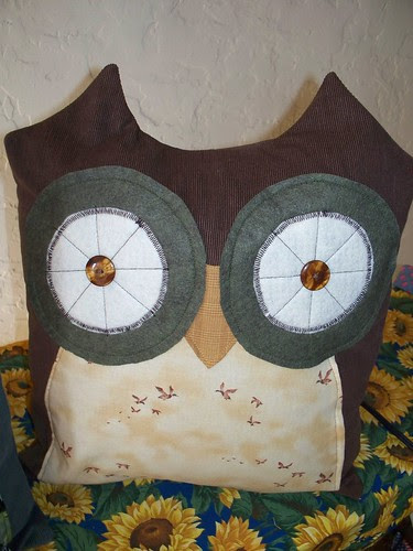 smaller owl pillow
