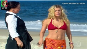 Carolina Dieckmann sensual na novela Três irmãs