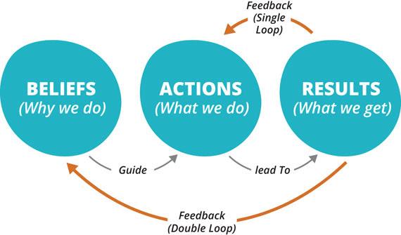 Figure 6-3. Single-loop and double-loop learning