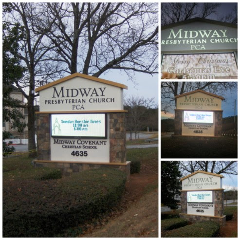 New Monument Sign for Midway Presbyterian Church