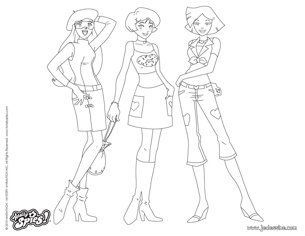 Alex et Clover Fashion 6 Coloriage Coloriage TOTALLY SPIES Coloriage