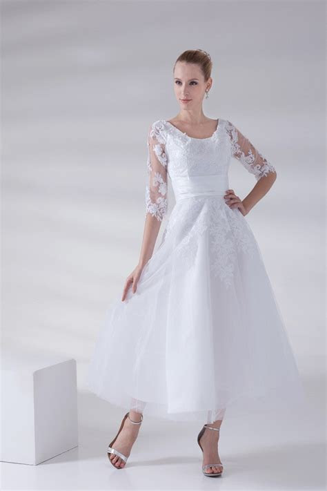 Cheap Plus Size Wedding Dresses With Sleeves   Stylish Dress