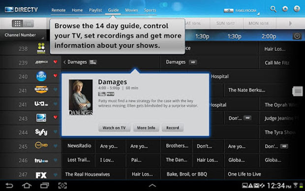 DirecTV for Android tablets
