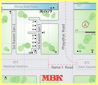 Location Map of MBK Shopping Center Bangkok Thailand, MBK Shopping Mall Bangkok Location Map,MBK Shopping Mall accommodation attractions hotels map