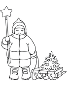 Christmas Tree Made of Stars coloring page | Free ...