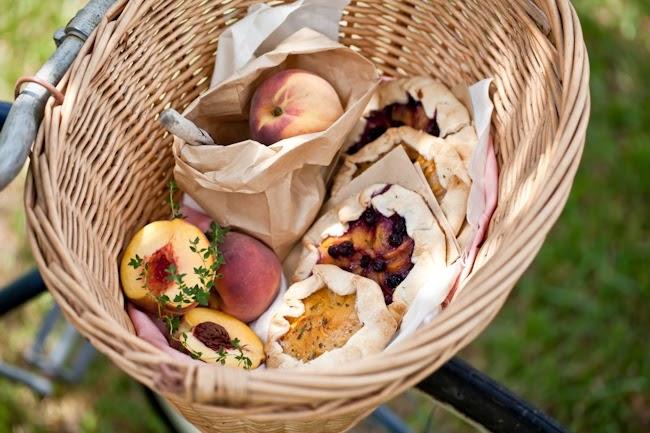 Tartelette: Peach, Blueberry & Lemon Thyme Galettes