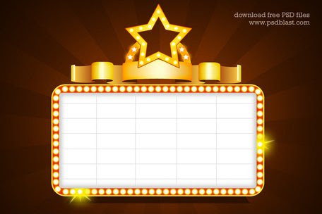 Showtime Signs Template (PSD), Vector Graphic - Clipart.me