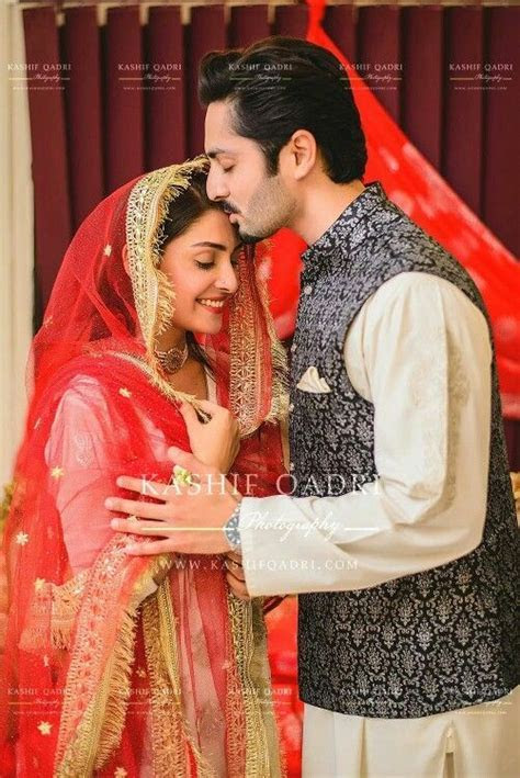 Ayeza khan and Danish Taimoor at their nikah ceremony