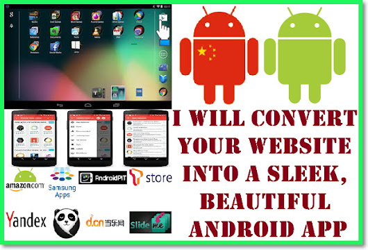 I will convert Your Website Into A Sleek, Beautiful Android App