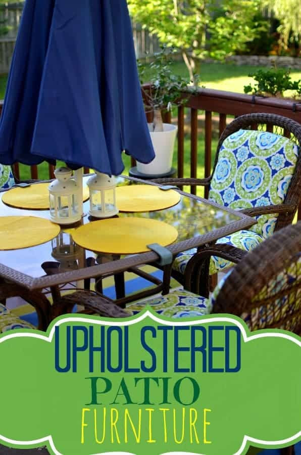 Upholstered Patio Furniture - PLACE OF MY TASTE