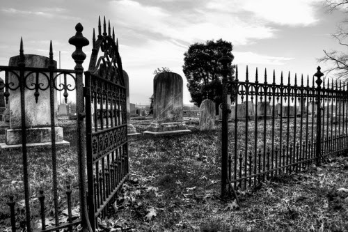 THE CEMETERY GATES ARE OPEN. THE DEAD HAVE LEFT THE PREMISES. THEY'RE ON THEIR WAY TO OASIS, FLORIDA. WATCH FOR THEM AFTER THE SUN SETS. THEY LOVE GAMES AND PARTIES. YOU MIGHT BE INVITED BUT YOU WILL NEVER LEAVE ALIVE.