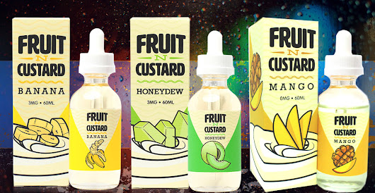 Fruit N Custard E Juice - LETS VAPE & SMOKE SHOP KC