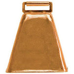 "Weaver Leather Copper Cow Bell, 3-1/4"" 65-4474"