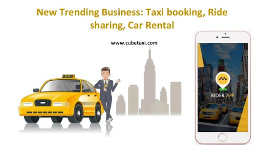 New trending business taxi booking, ride sharing, car rental