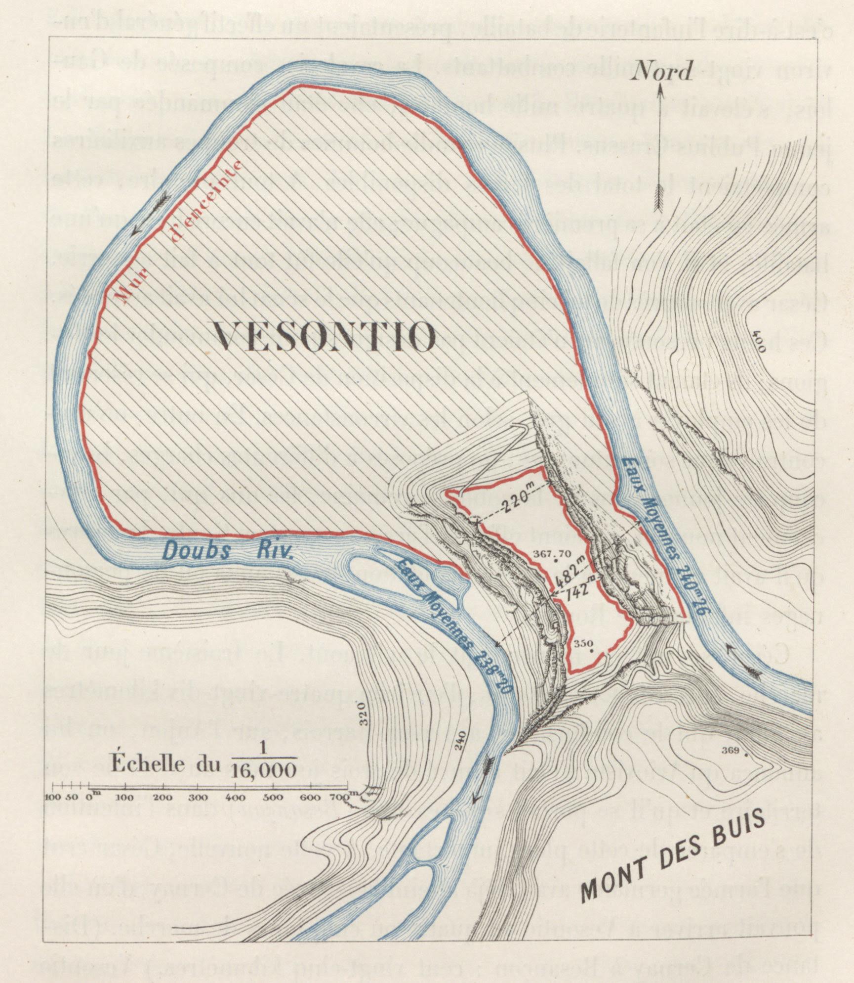Eugene Stoffel's map of Vesontio