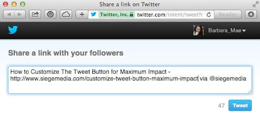 How to Customize The Tweet Button for Maximum Marketing Impact - Siege Media