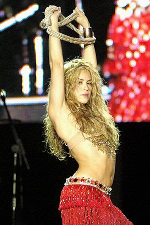 Shakira at the Rock in Rio concert in 2006.