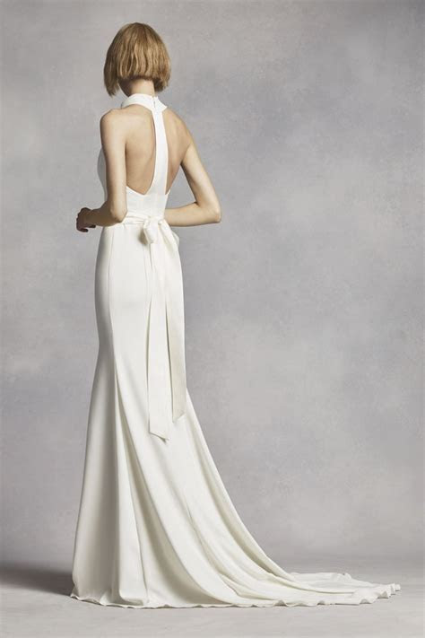 White by Vera Wang High Neck Halter Wedding Dress Style
