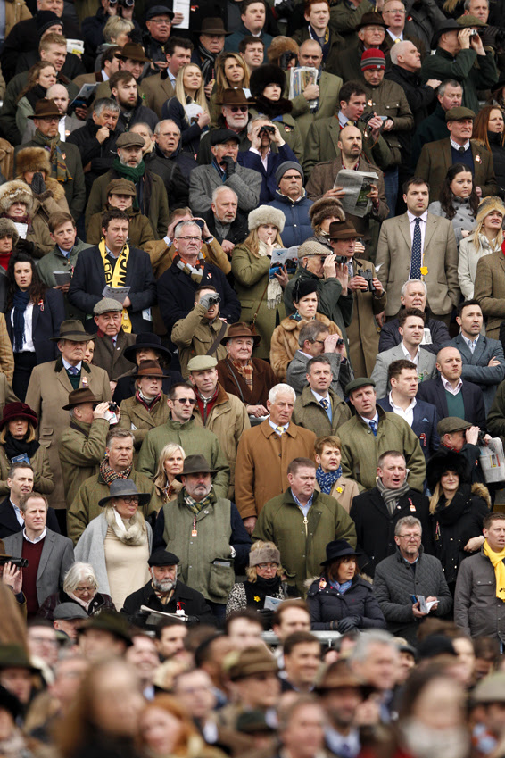 Cheltenham Festival...Horse Racing - Cheltenham Festival - Cheltenham Racecourse - 18/3/16  Racegoers watch the 1.30 JCB Triumph Hurdle  Action Images via Reuters / Andrew Boyers  Livepic