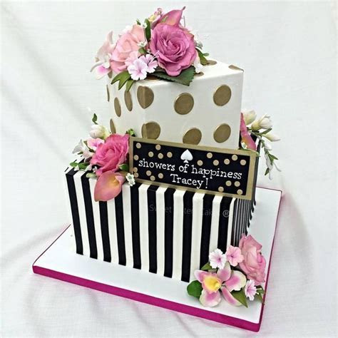 Bridal shower cakes inspired by Kate Spade! #dessets #