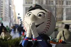 Mr. Met was in front of Penn Station ...
