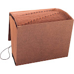 """Sparco Flap Close 1-31 Heavy-Duty Accordion File 8 1/2""""x11"""" - Brown"""