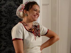 Personagem marca a estreia de Titina Medeiros (Foto: Cheias de Charme / TV Globo)
