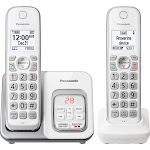 Panasonic - KX-TGD532W DECT 6.0 Expandable Cordless Phone System with Digital Answering System - White