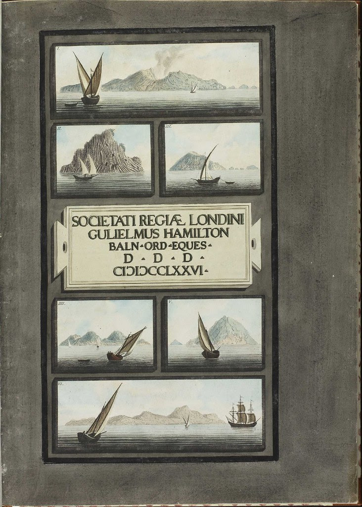 Plate 1, sailing ships in the Lipari Islands (Vol. 1)