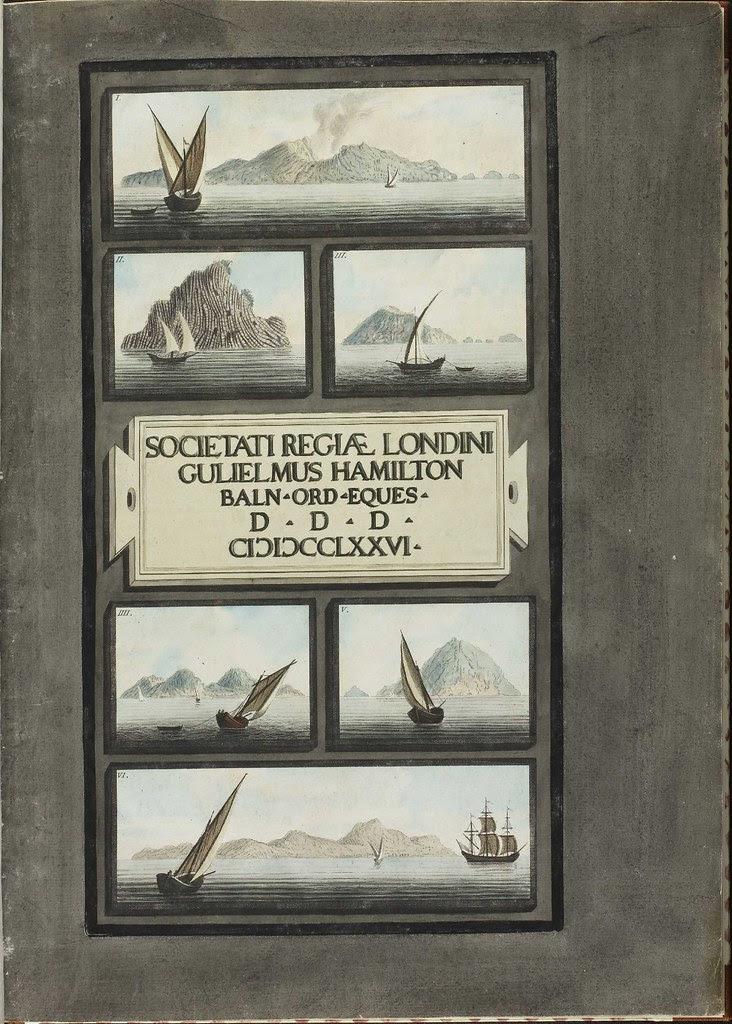 Plate 1, sailing ships in the Lipari Islands (Vol. 1)