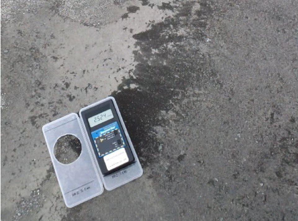 Fig. 85 : Exemple de poussière noire à Minamisoma en 2012