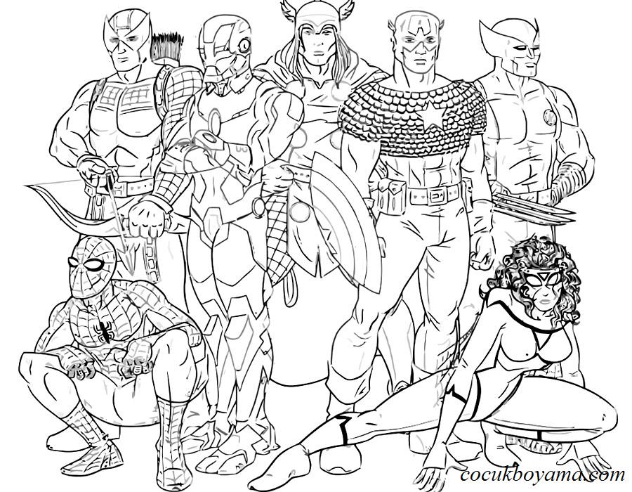 Süper Kahramanlar 10 ücretsiz Boyama Resimleri