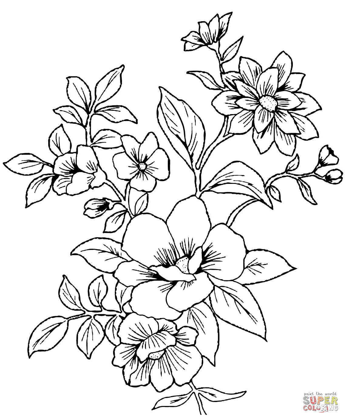 33 ausmalbilder blumenstrauß mit vase  ladypoetisa