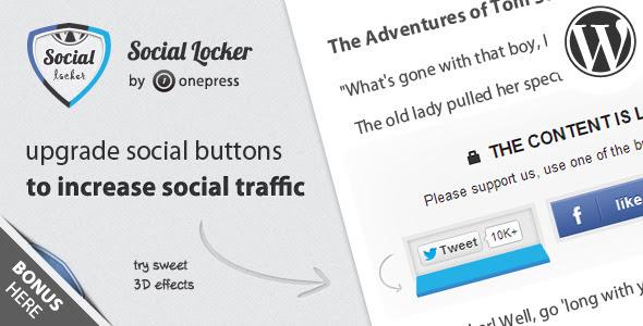 Social Locker WordPress plugin