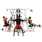Body Solid 3 People Complex Home Gym Machine System EXM4000LPS